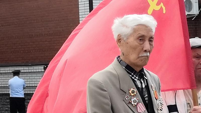Э.А. Догдаев на митинге в Ишиме 22 июня 2019 г.
