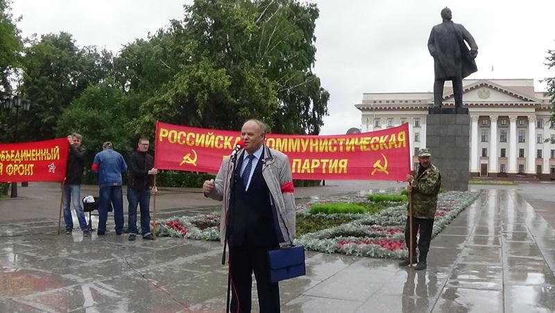 А,К. Черепанов на митинге 3 августа 2019 г. в Тюмени