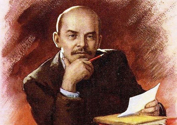 В.И. Ленин портрет в цвете