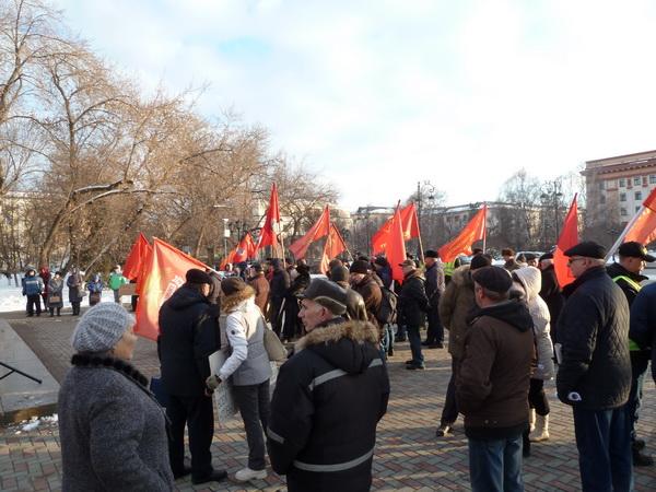 Митинг 17 марта 2020 г. в Тюмени по поводу референдума за СССР и по поправкам в Конституцию РФ.