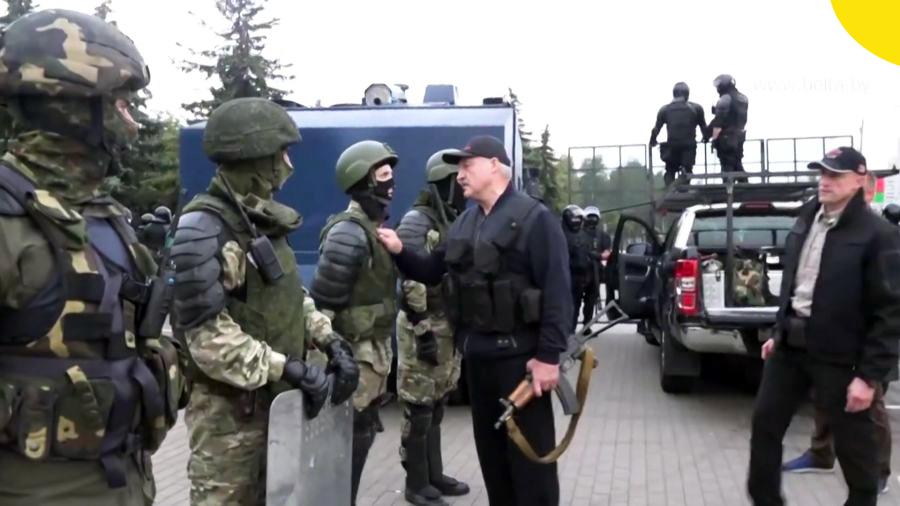 Минск. Агрессия против республики Беларусь
